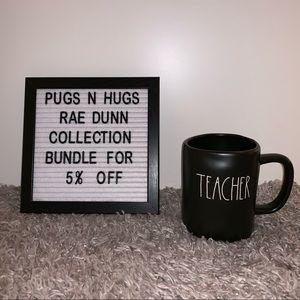 """Rae Dunn """"Teacher"""" Mug (black)"""